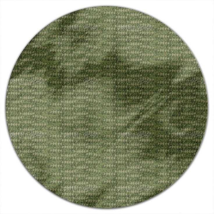 Uneekee Reptilio Green Round Tablecloth (Small), Multi (Polyester, Print)