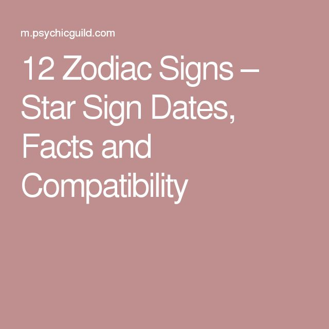 Dating star sign compatibility