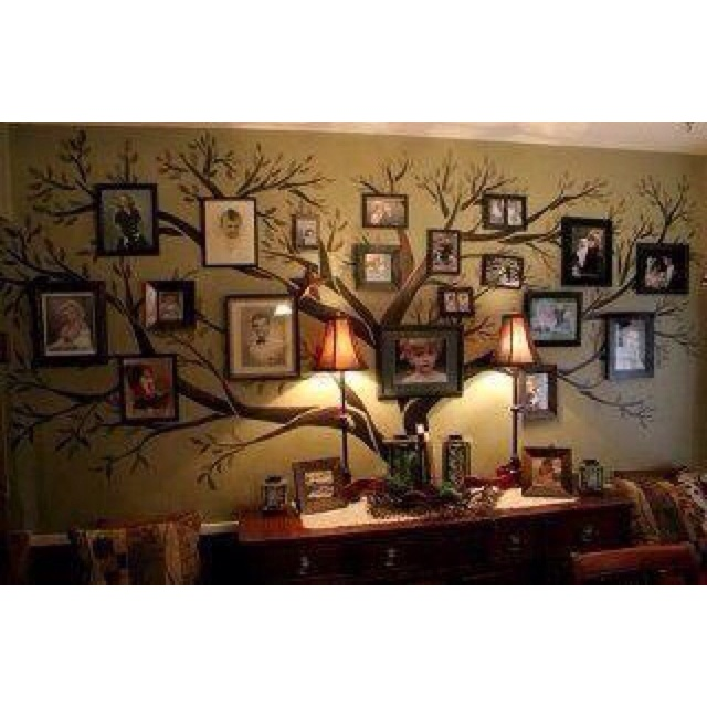 Family tree: Decor, Ideas, Family Trees, Living Room, Familytrees, House, Families, Photo, Wall