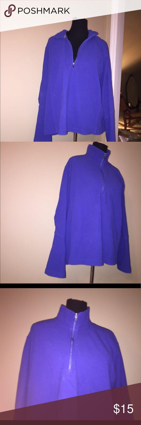 Women's Lands End Purple Fleece Polartec Half Zip Like new condition! Women's xl Lands' End Tops Sweatshirts & Hoodies