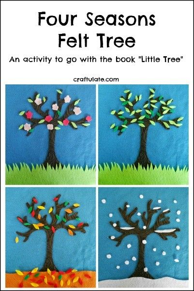 Four Seasons Felt Tree - a fun activity board for kids to learn about the seasons!
