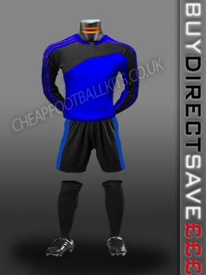 Striker Discount Football Kit Royal/Black