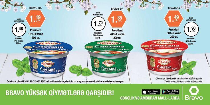 ƏLA FÜRSƏTLƏRDƏN YARARLANIN! Geniş çeşiddə ərzaq və qeyri-ərzaq məhsullarını minimum qiymətlərlə Bravo-da əldə edin. 👉 http://www.bravosupermarket.az/#/leaflet  TAKE THE BENEFIT OF GREAT DEALS! Get the wide-ranging food and non-food products offered for minimum prices at Bravo. 👉 http://www.bravosupermarket.az/#/leaflet