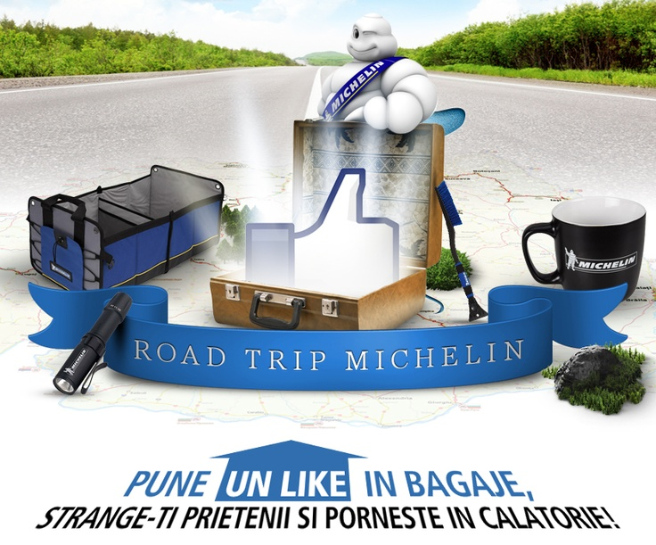 Michelin Visual for a Facebook Road Trip App