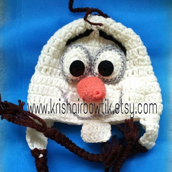 READ MY POLICIES AND ANNOUNCEMENTS BEFORE PLACING ORDER  This is a handmade crochet hat that is made to order.    This Olaf inspired crochet hat