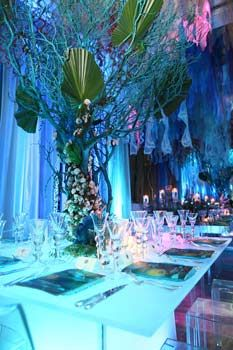 Love the idea of making branches look like coral for a deep sea effect!