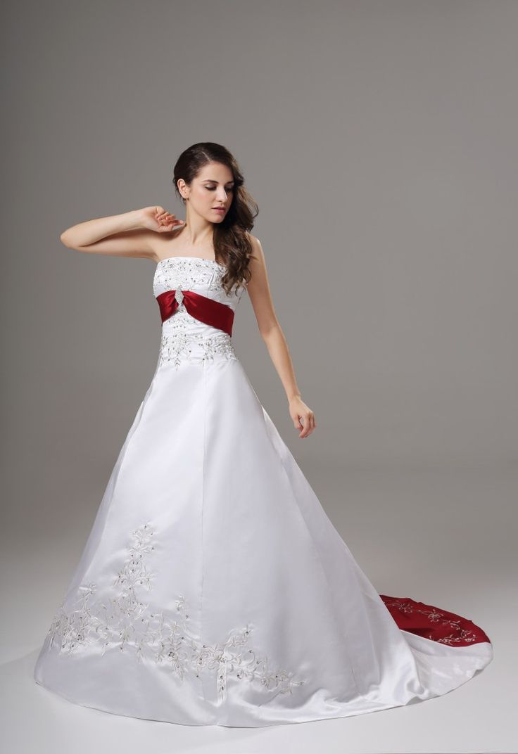 Red and white wedding frocks