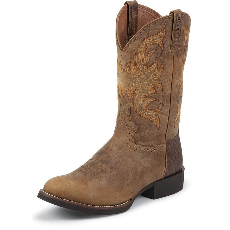 Justin Mens Tan Puma Cow Boot My Style Pinterest