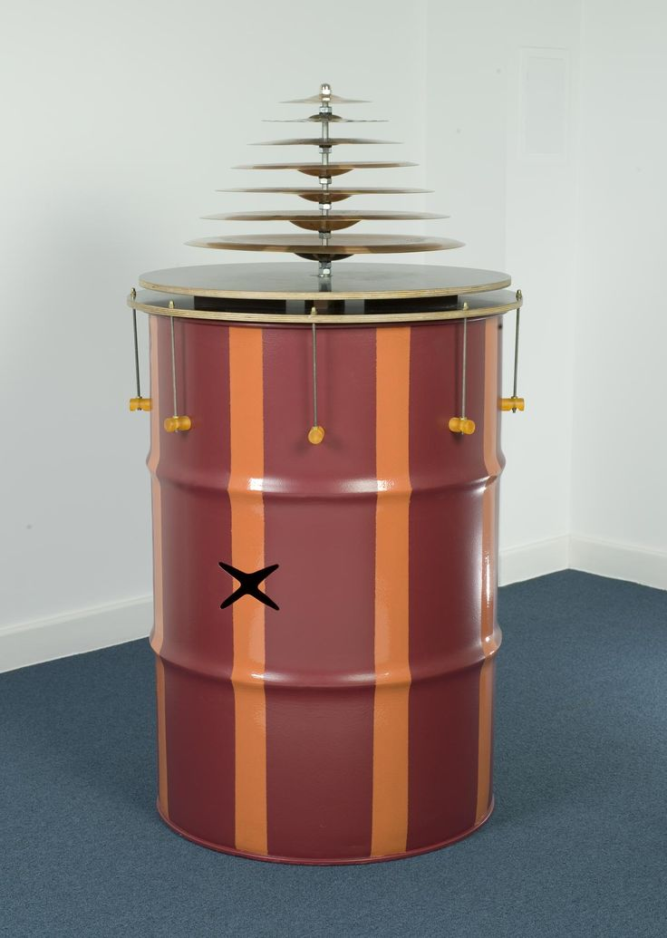 Vulk, vulcano or hurricane, one of four contemporary musical instruments: Portuguese, Colares, by musical instrument maker, Victor Gama, 2008