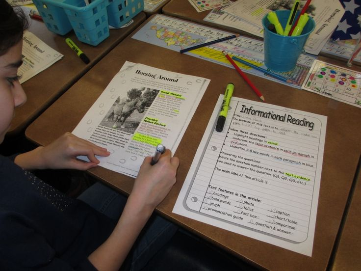 Girl working on close reading, great step by step ideas!