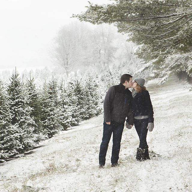 Another beautiful snow session at #PropstChristmasTreeFarm for Kyle & Robyns engagement! The snow was coming down pretty heavy and it was so super cold out, but they were troopers and we captured some amazing images.  #Photographer #Photography #WeddingPhotographer #Weddings #Engaged #Engagement #EngagementPhotographer #MadisonPhotographer #MadisonWI #Photos #Pictures #Portrait #BeaverDamPhotographer #BeaverDamWI #MaePhotographics