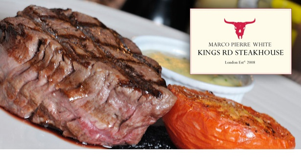 Dine upon high quality steak, timeless English dishes & devilish desserts at Marco Pierre White Kings Road Steakhouse & Grill. 58% off fine dining for two people; relish three delicious courses plus a champagne cocktail each.