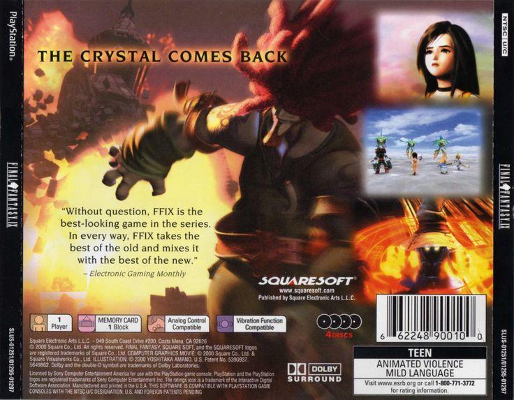 Final Fantasy IX PSX cover