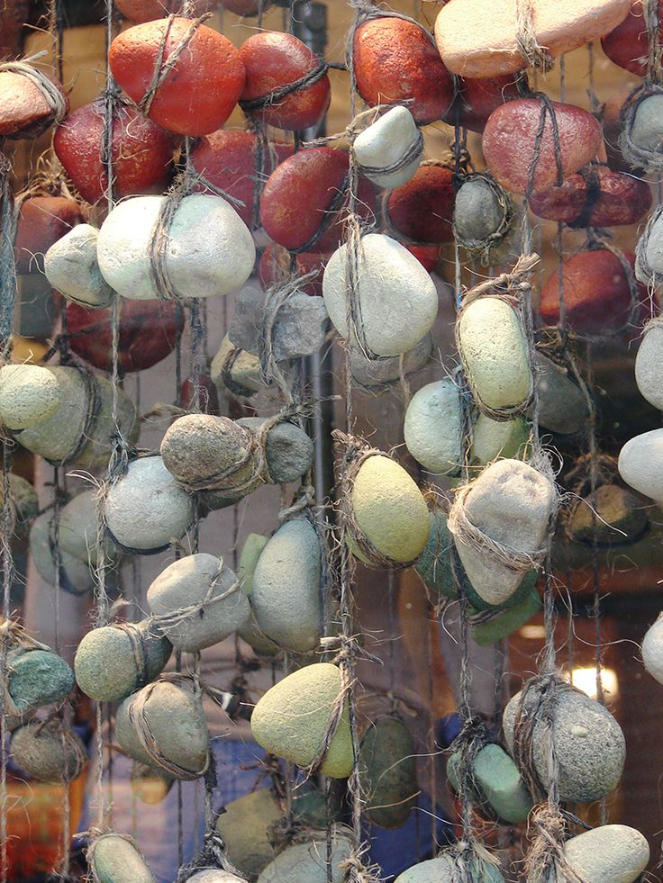 rocks wrapped in twine - via anthropologie