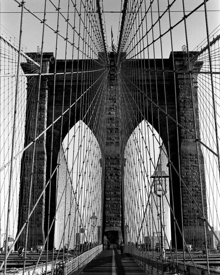 Brooklyn Bridge by Keith Moss. #ilford #film #keithmoss #newyork #brooklyn http://keithmoss.co.uk