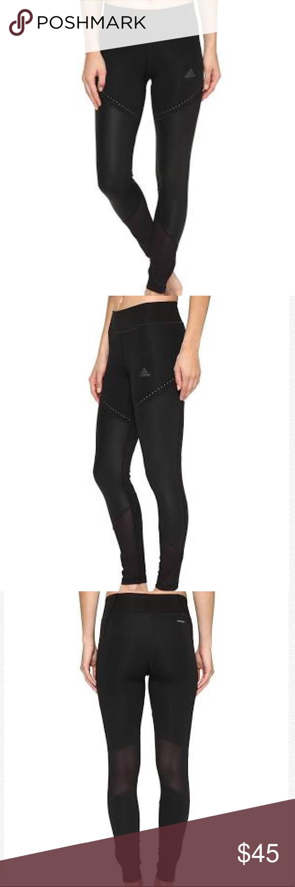 ADIDAS WOW DROP 1 climalite ultimate tights NWT ADIDAS  climalite WOW DROP 1 ULTIMATE TIGHTS  BLACK BQ2126  116255629  sku 190303256966 Elastic waistband ensures a comfortable fit. Hidden key pocket keeps small items stored away. Mesh panels increase breathability when things heat up. Reflective elements help increase visibility in low-light conditions. Cropped cuffs. 79% recycled polyester, 21% elastane.  Material:Spandex, Mesh, Recycled Polyester Size: XL  KICK ASS IN KICKASS TIGHTS G…