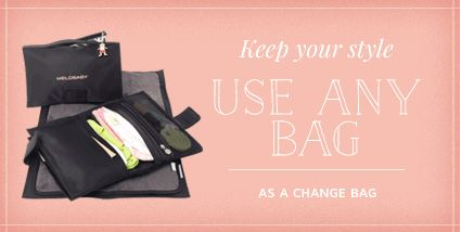 Love this idea for changing a baby. I don't have to carry a changing bag anymore...