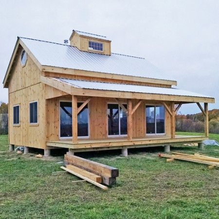 20×30 Cabin – Customized with the 8×30 Overhang upgrade and a custom built cupola with windows.