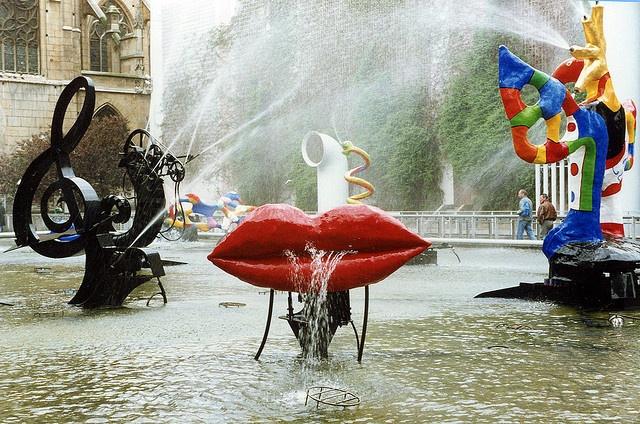 Niki de Saint Phalle and Jean Tinguely's  Fountain at Beaubourg, Paris