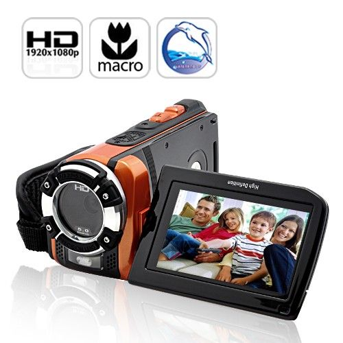 Ultra Rugged HD Sport Camcorder:  Highlights...      Amazing 1080p videos!     Sport ready and waterproof     Comes with Macro Functionality     16MP still image camera WOW!     H.264 AVI video format - most popular     3 inch viewscreen     HDMI connection