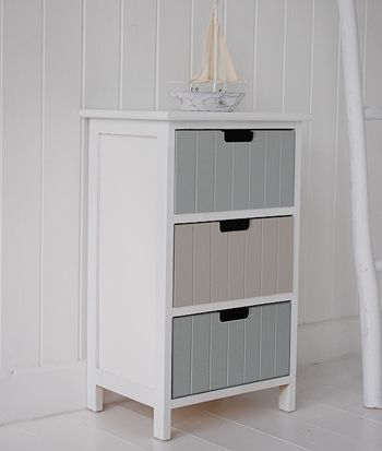 Beach free standing bathroom cabinet furniture with drawers
