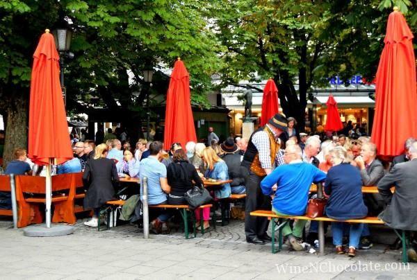 Beer garden Munich Germany