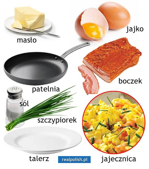 Polish vocabulary - Food & kitchen