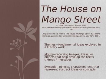 House on mango street project ideas