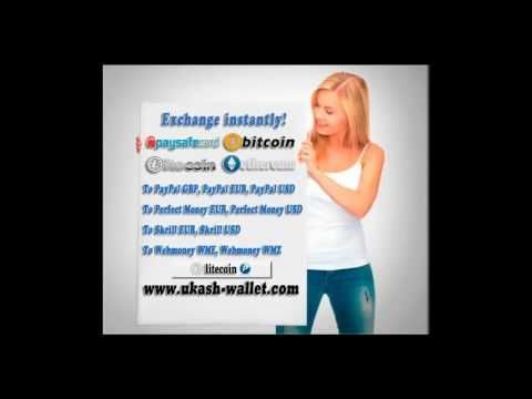 Exchange instantly Bitcoin, Litecoin, Ethereum to PayPal, Perfect Money,...