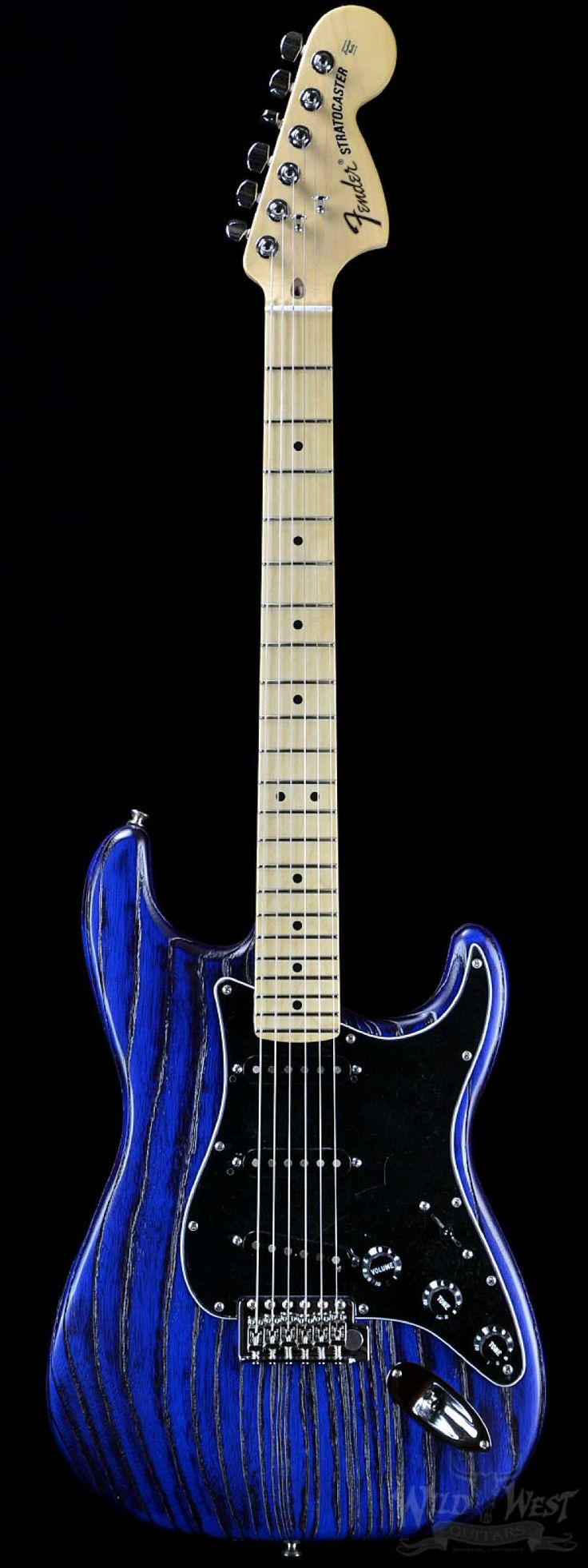 Fender USA Limited Edition Sandblasted Stratocaster Sapphire Blue Transparent - Wild West Guitars