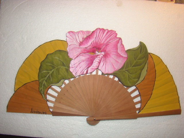 39 best hand fans images on pinterest hand fans - Como pintar abanicos ...