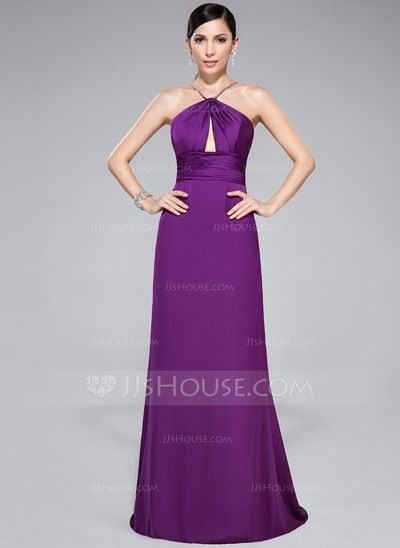 Evening Dresses - $99.99 - Trumpet/Mermaid V-neck Sweep Train Satin Chiffon Evening Dress With Ruffle Beading (017047385) http://jjshouse.com/Trumpet-Mermaid-V-Neck-Sweep-Train-Satin-Chiffon-Evening-Dress-With-Ruffle-Beading-017047385-g47385