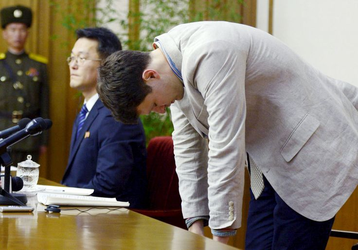 Otto Warmbier: American Student Arrested in North Korea Admits to Stealing Propaganda  Read more: http://www.bellenews.com/2016/02/29/world/asia-news/otto-warmbier-american-student-arrested-in-north-korea-admits-to-stealing-propaganda/#ixzz41YcoxK3J Follow us: @bellenews on Twitter | topdailynews on Facebook