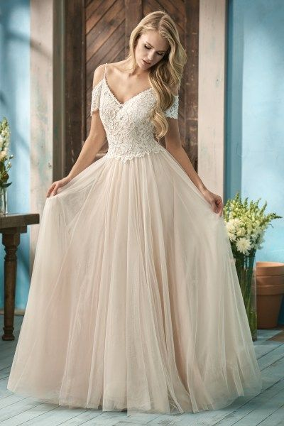 Bohemian Off The Shoulder Wedding Dress With Lace And Tulle Skirt At Gateway Bridal