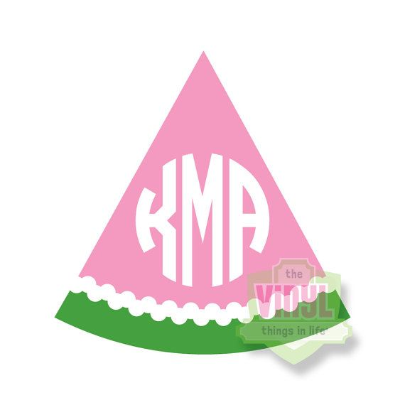 Watermelon Monogram Monogram Sticker Monogram Decal Car