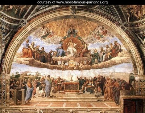 Disputation of the Holy Sacrament (La Disputa) - Raphael - www.most-famous-paintings.org
