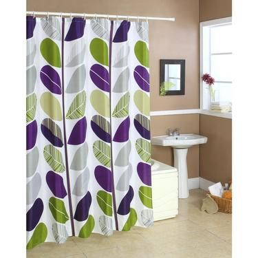 Cloud 9 Leaf Shower Curtain Multicoloured