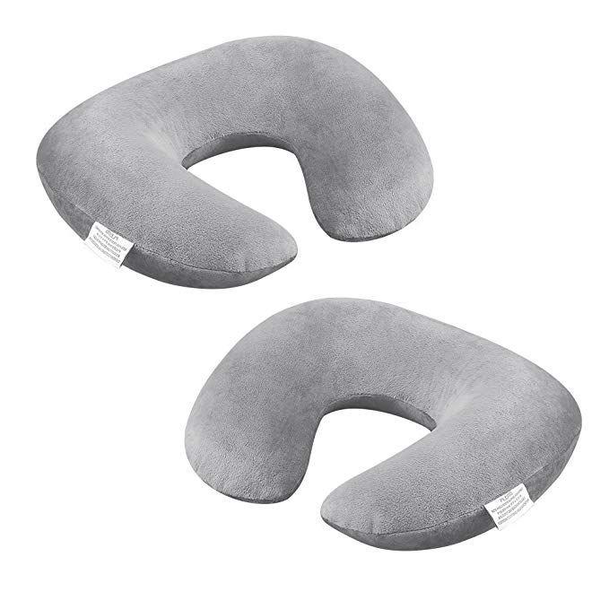 Amazon Com Plemo Inflatable Travel Neck Pillow U Shaped Velvet