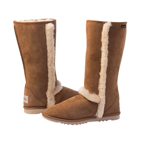 Arctic Tall Chestnut Boots, Australian Made Sheepskin, #aussie #australianmade #sheepskin #boots #tallboots #shoedreams #comfy #cute #warm #indoors #home #outdoors #shoesaholic #chestnut #brown #natural #chestnutboots #brownboots #styling #fashion #outfit #fashioninspiration