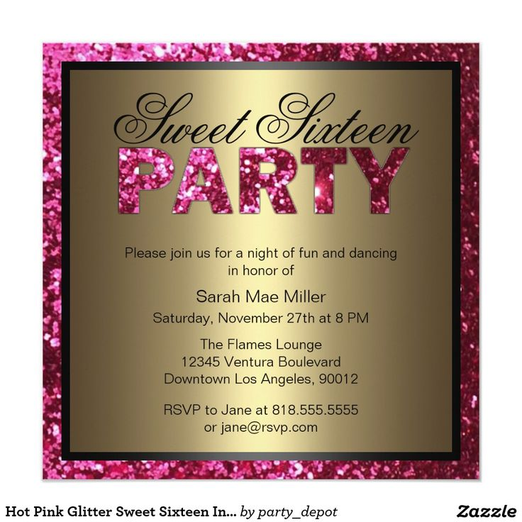 21 Best Gold Sweet Sixteen Invitations Images On Pinterest Sweet
