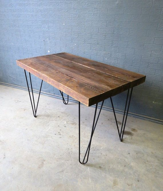 Pin By Timber Revival On Our New Recycled And Reclaimed: This Our New Custom Hairpin Desks 60 Mm Thick Reclaimed
