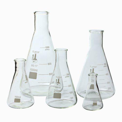 213B2 Karter Scientific Glass Erlenmeyer Flask 5 Piece Set 50, 150, 250, 500, & 1000ml Karter Scientific http://www.amazon.com/dp/B006UKICMW/ref=cm_sw_r_pi_dp_zKbLwb0TYTFGS