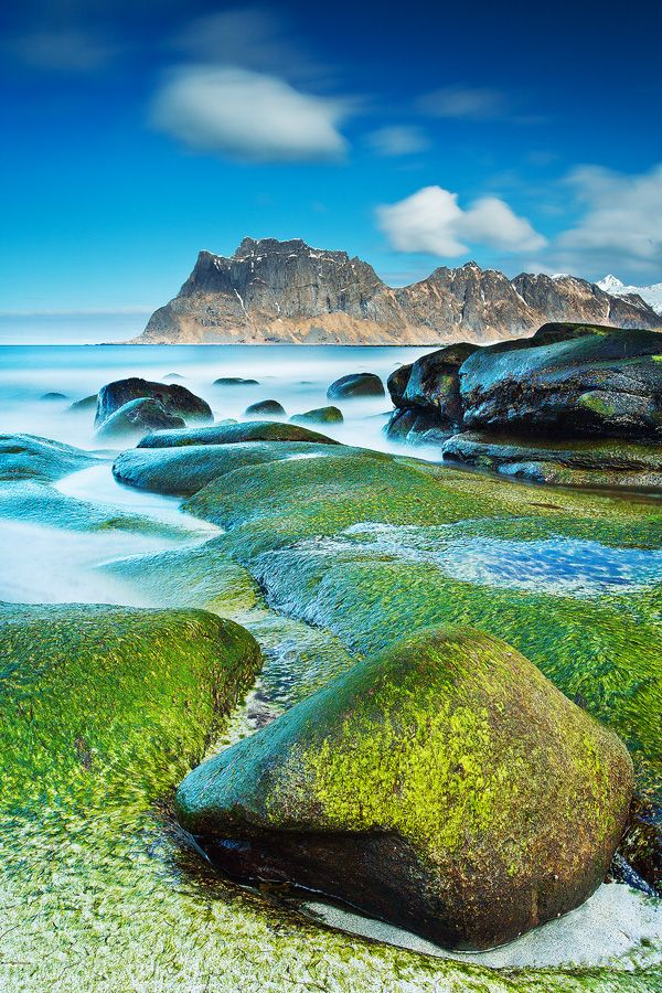 Uttakleiv Beach in the Lofoten Islands, Norway