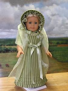 St Patrick Day Regency Gown 1800s for American Girl Doll Caroline | eBay