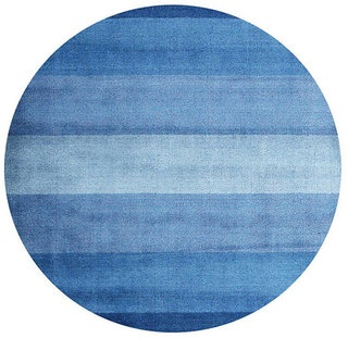 (6' Round) Hand-tufted Blue Stripe Wool Rug | Overstock.com: Blue Rugs, Wool Rugs, Handtuft Blue, Blue Stripes, 80 150 Round, Blue Planets, Hands Tufted Blue, Stripes Wool, Round Blue