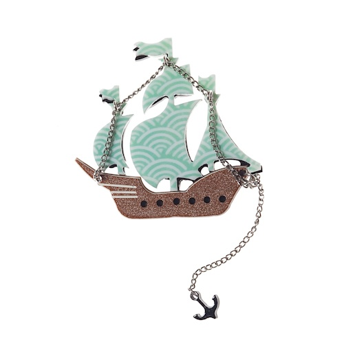 ship brooch by erst wilder