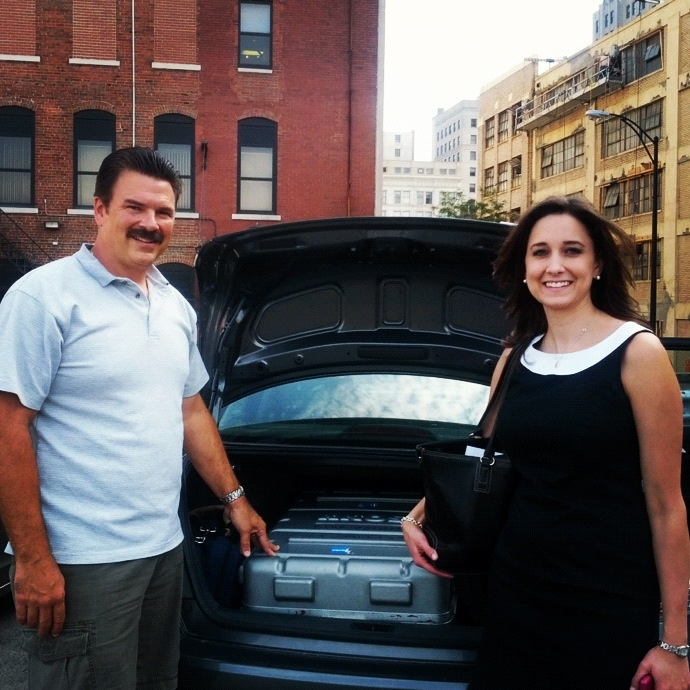 21 News anchor Leslie Barrett and photojournalist Paul Kiseluca packed and headed for the airport for the Democratic National Convention in Charlotte, North Carolina.