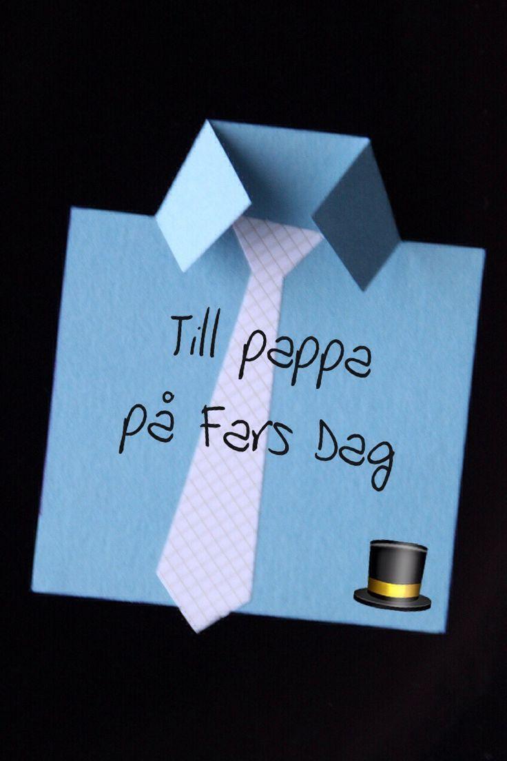 Fixa Fars Dag kortet på några minuter - Bakverk och Fikastunder