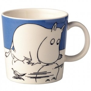 Moomin mug, I have this one!! On the other side of the mug it shows the moomins bottom. Makes me smile every time I drink out of it:):)
