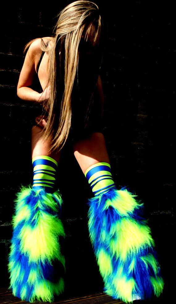 Hey, I found this really awesome Etsy listing at https://www.etsy.com/listing/209211157/neon-camo-fluffies-leg-warmers-faux-fur